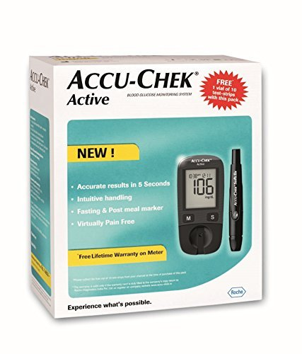 Accu Chek Pro - Accu-Chek Active Meter with 50 Strips - (Multicolor)