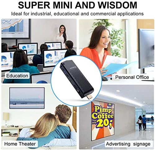 Mini Computer Stick with Intel Atom x5-Z8350 & Pre-Installed Windows 10 Pro,8GB DDR3L 120GB ROM Fanless PC Stick Support 4K HD, Bluetooth 4.2 and Dual Band WiFi 2.4G/5.0G