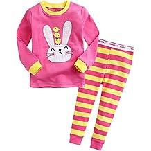 Vaenait baby 12M-7T Girls Easter Gifts Easter Rabbit Sleepwear Pajama Set