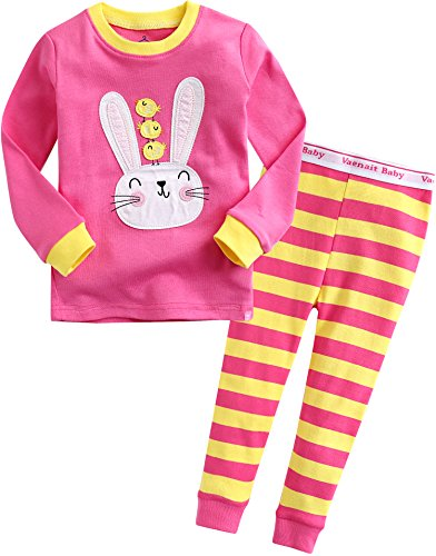 Vaenait baby Girls Easter Rabbit Bunny Sleepwear Pajama Set Swing Chicks XS]()