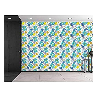 Astonishing Handicraft, Large Wall Mural Seamless Floral Pattern Vinyl Wallpaper Removable Decorating, Made For You