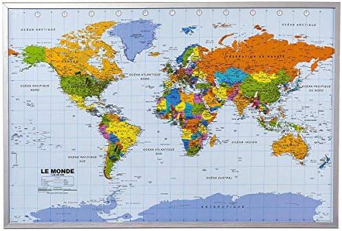 Mapa del mundo de la pared XXL - incluyendo 12 banderas de ...