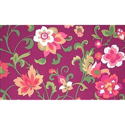 Buffaloe Creek Sales (1) Outdoor Patio Bench Cushion ~ Purple Floral ~ 17 x 46 x 3.25NEW : Garden & Outdoor