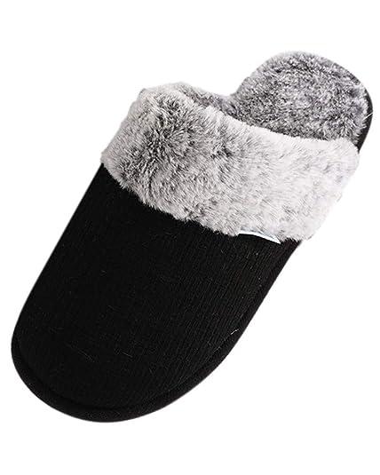 Suncaya Donna Uomo Coppia Pantofole Calde Interne Casa Autunno Inverno  Scarpe da Casa  Amazon.it  Scarpe e borse 2c5f2795073