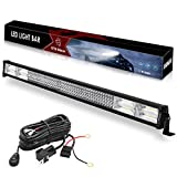 LED Light Bar, YITAMOTOR 42 Inch Light Bar 744W Fog Driving Light Spot Flood Combo Light 4 Row LED Bar Wiring Harness for 4WD 4X4 Jeep ATV SUV UTV Truck Pickup Boat Tractor Off road Light, 78,000lm