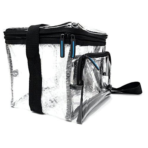 - Large Heavy Duty Clear Lunch Bag Black Trim