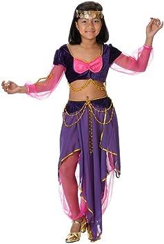 Disfraz danza del vientre niña. Talla 5/6 años.: Amazon.es ...