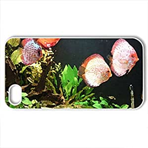 Aquarium - Case Cover for iPhone 4 and 4s (Watercolor style, White)