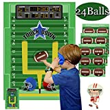 Funnlot Football Games for Kids Pin The Football Game Football Party Supplies  Football Party Games Activities Halloween Party Games Football Theme...
