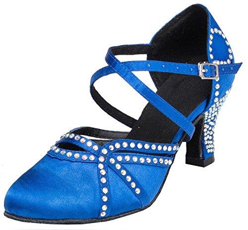 Femmes Satin Samba Tda Latin Cristaux Ld034 Moderne Rumba Chaussures t55nqFx