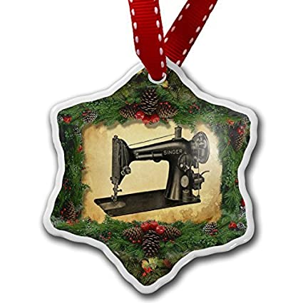 novelty christmas decorations sewing machine ornament craft crafts xmas tree hanging - Christmas Decorations To Make With Sewing Machine
