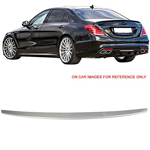 Class Spoilers (Pre-painted Trunk Spoiler Fits 2014-2015 Benz W222 S Class   OE Style ABS #744 775 Iridium Silver Metallic Rear Tail Lip Deck Boot Wing By IKON MOTORSPORTS)