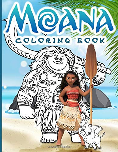 Moana Coloring Book Color To Relax Moana Adult Coloring Books For Women And Men Unique Colouring Pages Fletcher Marley 9798637759606 Amazon Com Books