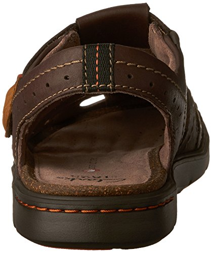 Clarks Mens Unwilmore Bay Visser Sandaal Bruine Koe Volnerf Leer / Textiel