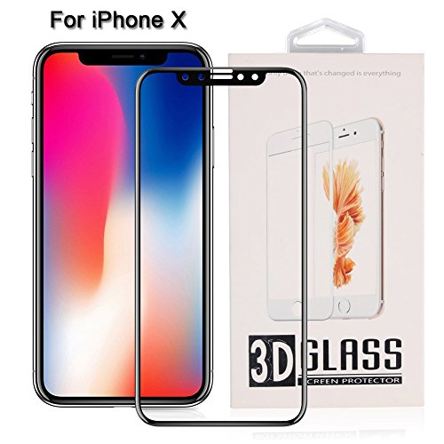 iPhone X Screen Protector,WOWOGO iPhone X Tempered Glass HD Clear Screen Protector [3D Full Coverage] - Ultra Thin 9H Protective Film for iPhone X/iPhone (Wireless 3d Glasses)
