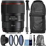 Canon EF 35mm f/1.4L II USM Lens + Sling Backpack + Monopod + 3 Piece Pro Filter Kit + Lens Pen + Lens Cleaning Kit Pro Travel Bundle