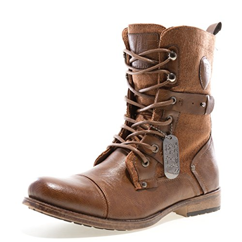 Jump J75 Mens Deploy Lace-Up Ankle Cap Toe Boots Tan 7 Medium (D) by Jump
