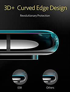 ESR iPhone X Screen Protector, [3D+ Maximum Protection Full Coverage], [Easy Installation Frame], Premium Tempered Glass Screen Protector for iPhone X/iPhone 10 (5.8-inch) (Black) by Electronic Silk Road Corp