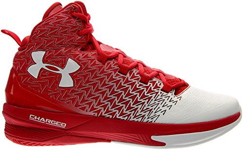 Under Armour ClutchFit Drive 3 Men's Basketball Shoe 1269274 600 (10.5) Red/White