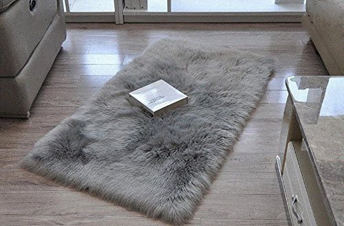 Gray Carpet (Cuteshower Serene Super Soft Faux Fur Rug Kids Carpet with Fluffy Thick Used As An Area Rugs in Bedroom 2ft x 3ft, Gray)