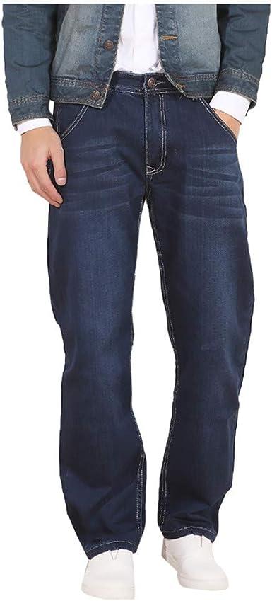Lunule Pantalon Vaquero Hombre Anchos Elastico Jeans Largos Moda Pantalones De Rectos Suelto Pantalones De Trabajo Hombre Casual Pantalones De Mezclilla De Fiesta Diario Pantalon Hombre Vestir Amazon Es Ropa Y Accesorios