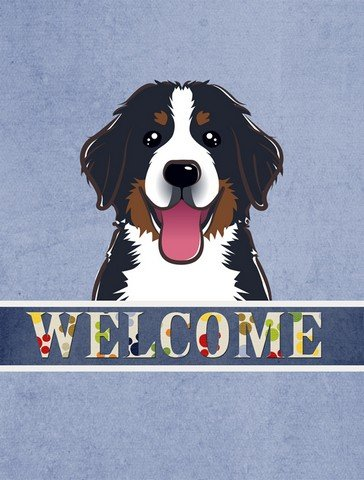Caroline's Treasures BB1423CHF Bernese Mountain Dog Welcome Flag Canvas, Large, Multicolor Review