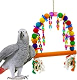 Bonka Bird Toys 1060 Rainbow Perch Swing Bird Toy cage toys cages swing perch conures caiques parrots