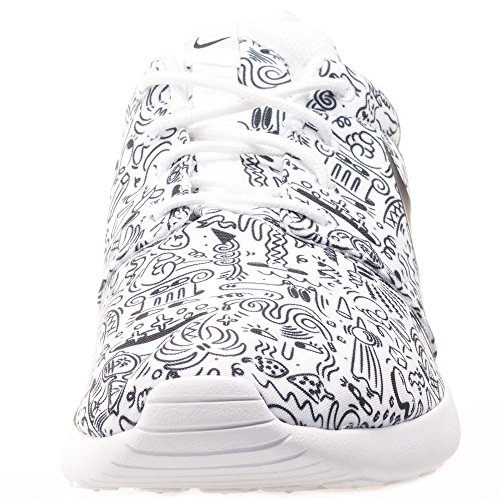 Blanco Scarpe White Bianco Roshe Wmns Print Prem Nike Black Donna One Sportive zRqBwxCxF