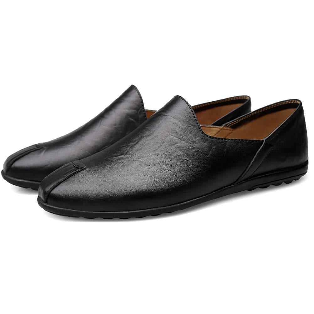 Black Men's Breathable Soft shoes Convenient One Foot Peas shoes Wear-resistant Non-slip Casual shoes