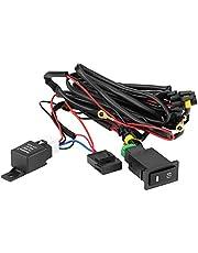 Fog Light Switch, 12V Universal Car LED Fog Light On/Off Switch Wiring Harness Fuse Relay Kit