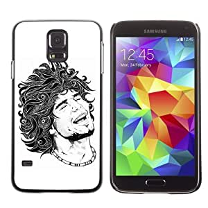 Licase Hard Protective Case Skin Cover for Samsung Galaxy S5 - Tattoo Illustration