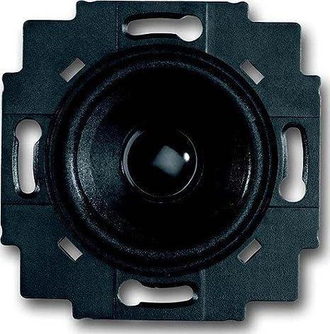Busch-Jaeger 8223U 8200-0-0042 Lautsprecher-Einsatz Ohne Abdeckung 2 W Schwarz /& 8253-84 Zentralscheibe