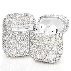 Silver Diamond Airpod Case Cover Handmade