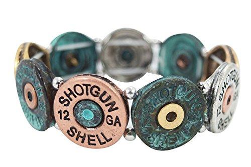 Western Cowgirl Bullet Shell - Shotgun Shell Bracelet (Patina)