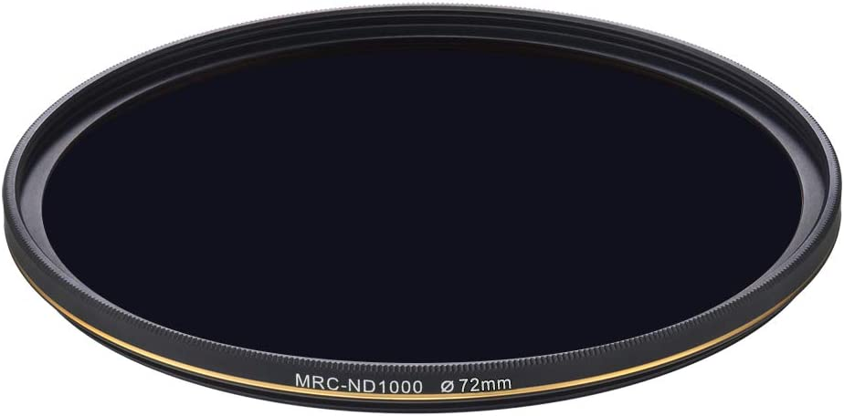 LENSKINS 72mm ND 1000 Filter 10 Stop Neutral Density Filter for Camera Lenses Weather-Seal ND Filter with Lens Cloth German Optics Glass 16-Layer Multi-Resistant Coated