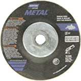 "Norton Metal Depressed Center Abrasive Wheel, Type 27, Aluminum Oxide, 5/8""-11 Hub, 4-1/2"""