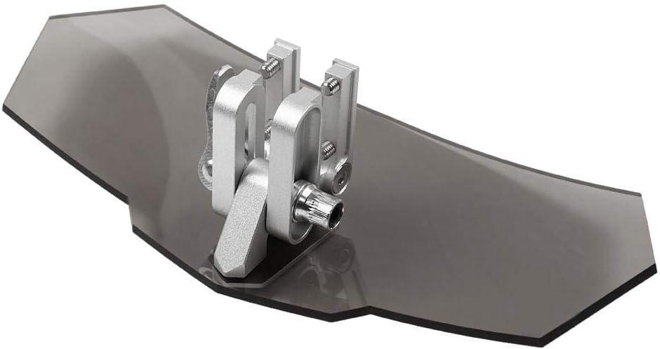 KIMISS Pare-brise Moto Universel,Protecteur D/écran Pare-vent Windshield Pare-brise D/éflecteur Transparent Noir