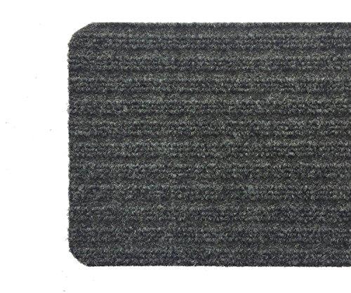 Stair Treads Collection Indoor Skid Slip Resistant Carpet Stair Tread Treads (Dark Grey, Set of 13 (8 in x 30 in)) by RugStylesOnline (Image #5)