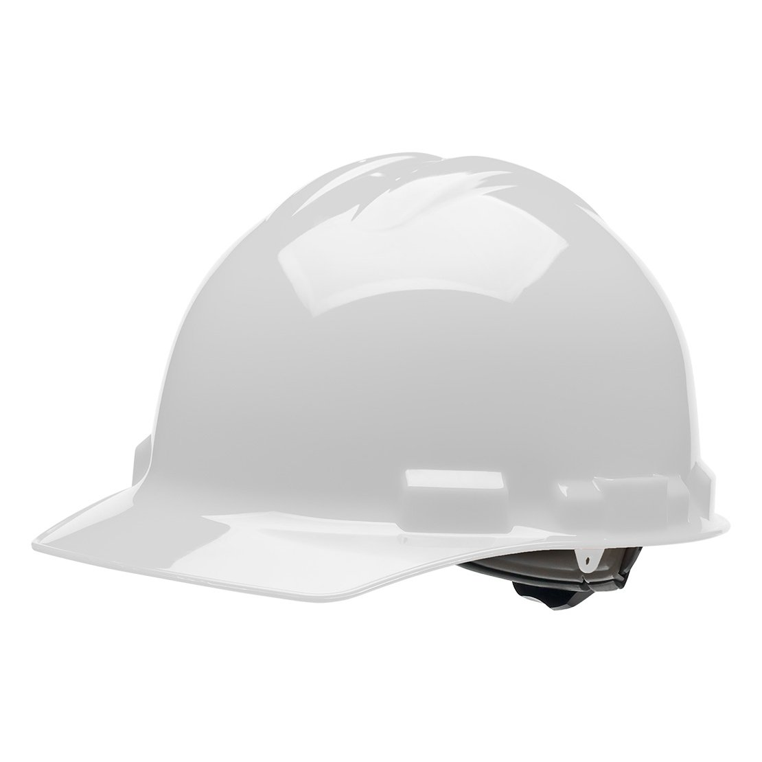 4 pt. Ratchet Cap Style Hard Hat (White), OSHA/ANSI Compliant