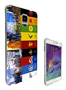 448 - Game Of throne Symbol Houses Sigils Emblems Design Samsung Galaxy Note 5 Fashion Trend CASE Gel Rubber Silicone All Edges Protection Case Cover