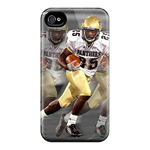 Scratch Protection Hard Cell-phone Case For Iphone 4/4s With Customized Realistic New York Jets Pictures ErleneRobinson