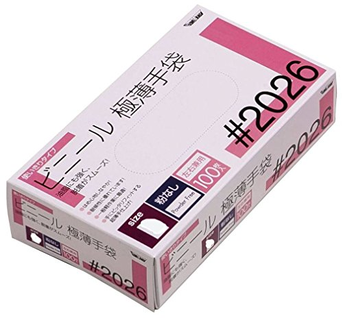 ビヨンうるさい類推川西工業 ビニール使いきり手袋 粉なし 100枚入 #2026 クリア M