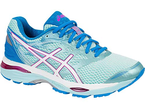 ASICS Women's Gel-Cumulus 18 Running Shoe, Aqua Splash/White/Pink Glow, 7 M US