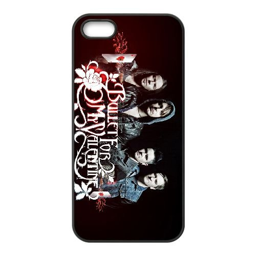 Bullet For My Valentine 018 coque iPhone 5 5S cellulaire cas coque de téléphone cas téléphone cellulaire noir couvercle EOKXLLNCD22596