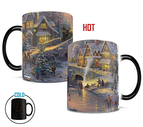 Morphing Mugs Thomas Kinkade Spirit of Christmas Heat Reveal Ceramic Coffee Religion Mug - 11 Ounces ()