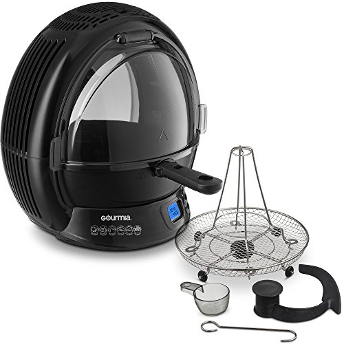 Gourmia GMF2600 Air Fryer & Multicooker, Halogen Vertical Rotisserie Oven & Free Recipe Book