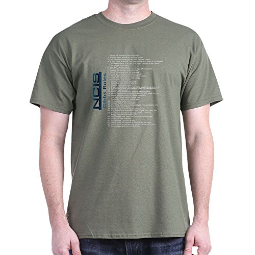 CafePress NCISTV Gibbs Rules (White Text) 100% Cotton T-Shirt