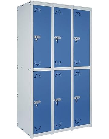 Taquilla metálica 2 Puertas. Módulo de 3 cuerpos. Med.: 1800x930x520 mm.