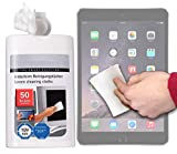 DURAGADGET 50-Pack Multi-Purpose & Anti-Static LCD Touchscreen Cleaning Cloths for NEW Apple iPad Air 2 (2014 Release)
