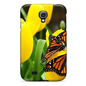 New Design Shatterproof PKF6609Xtqu Case For Galaxy S4 (butterflies)